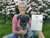 Wendi trots op mijn eerste diploma